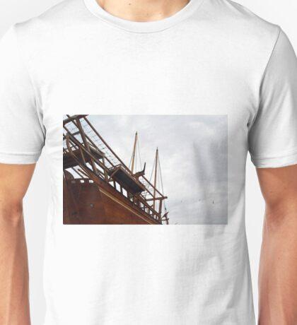 Detail of wooden ship. Unisex T-Shirt
