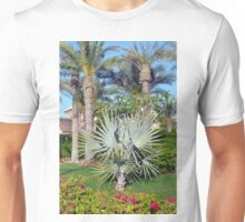 Natural background with palm trees. Unisex T-Shirt