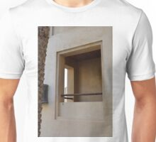 Window on beige wall. Unisex T-Shirt