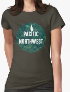 Pacific Northwest | Forest Circle Womens Fitted T-Shirt