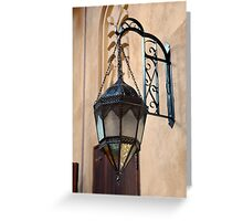 Vintage Gothic outdoor lamppost. Greeting Card