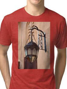 Vintage Gothic outdoor lamppost. Tri-blend T-Shirt