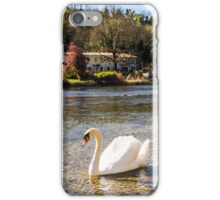 swan in the river iPhone Case/Skin