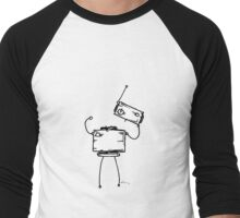 PARENTHESES the robot - white BG Men's Baseball ¾ T-Shirt