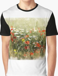 Poppy field, abstract image Graphic T-Shirt