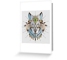 Wolf Chief Greeting Card