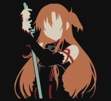 Asuna minimalist (Black version) One Piece - Long Sleeve