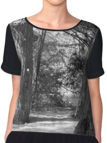 tree in the forest Chiffon Top