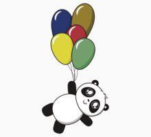 Pandas! Balloons! One Piece - Short Sleeve