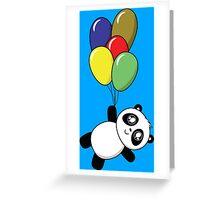Pandas! Balloons! Greeting Card