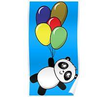 Pandas! Balloons! Poster