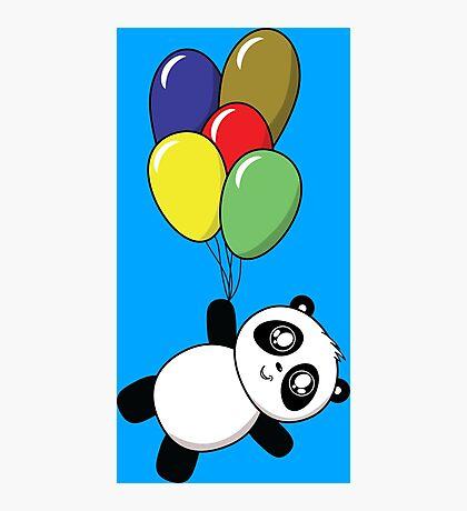 Pandas! Balloons! Photographic Print