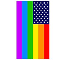 Gay USA Rainbow Flag - American LGBT Stars and Stripes Photographic Print