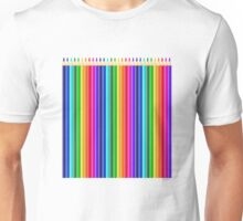 Long Colorful Colored Crayons & Drawing Pencils Unisex T-Shirt