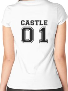Castle 01 - Varsity Style Women's Fitted Scoop T-Shirt