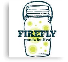 Firefly Music Festival   June 16-19, 2016 NEW Canvas Print
