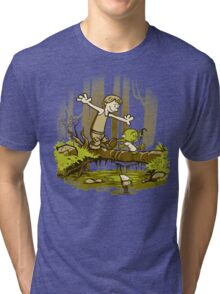 luke and yoda calvin and hobbes Tri-blend T-Shirt