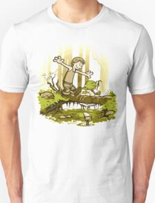 luke and yoda calvin and hobbes Unisex T-Shirt