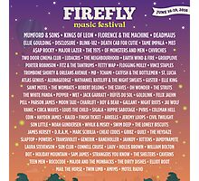 Firefly Music Festival | June 16-19, 2016 LINE UP Photographic Print