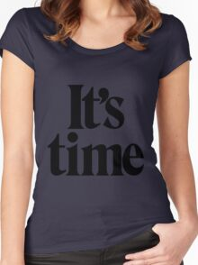 It's Time - Black Women's Fitted Scoop T-Shirt