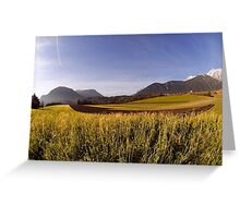 Plateau in Alps Greeting Card