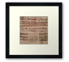 TRACES OF FEAR, TRACES OF LOVE Framed Print