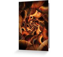 Fractal Tunnel Greeting Card