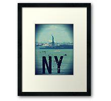 new york city, statue of liberty Framed Print