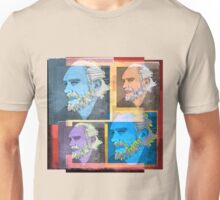 CHARLES BUKOWSKI, AMERICAN WRITER AND BARFLY, collage Unisex T-Shirt