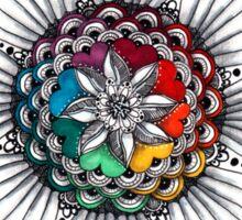Rainbow Mandala Zen art Sticker