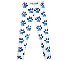 Space Cat Paw Pattern Leggings