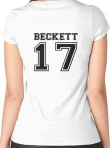 Beckett #17 - Varsity Style Women's Fitted Scoop T-Shirt