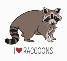 I Love Raccoons Baby Tee