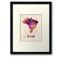 Brazil in watercolor Framed Print