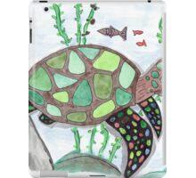 Turtle animal watercolor art iPad Case/Skin