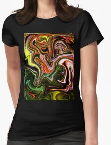 Swirling Colours Womens Fitted T-Shirt