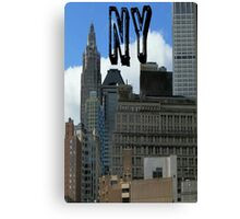 new york city of dreams usa empire state building Canvas Print