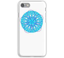 Geometric Flower Bl(yo)u times two iPhone Case/Skin
