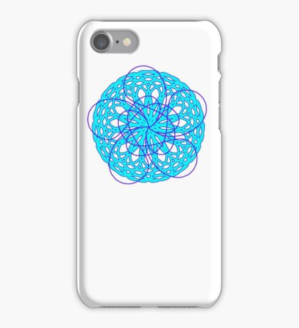Geometric Flower Bl(yo)u times two iPhone Case/Skin