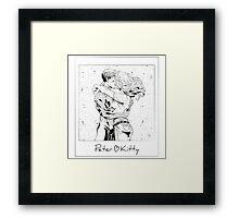 Spiderman <3 Kitty Framed Print