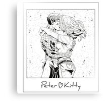 Spiderman <3 Kitty Canvas Print