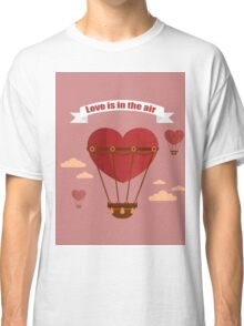 Happy Valentine's Day Greeting Cards. Air Baloon, Present with Love, Cupcake and Whale.  Classic T-Shirt