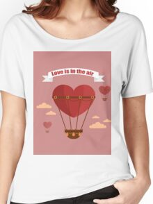Happy Valentine's Day Greeting Cards. Air Baloon, Present with Love, Cupcake and Whale.  Women's Relaxed Fit T-Shirt