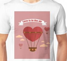 Happy Valentine's Day Greeting Cards. Air Baloon, Present with Love, Cupcake and Whale.  Unisex T-Shirt