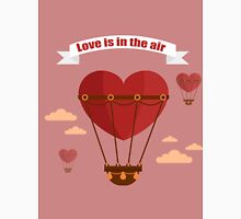 Happy Valentine's Day Greeting Cards. Air Baloon, Present with Love, Cupcake and Whale.  T-Shirt