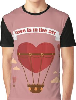 Happy Valentine's Day Greeting Cards. Air Baloon, Present with Love, Cupcake and Whale.  Graphic T-Shirt
