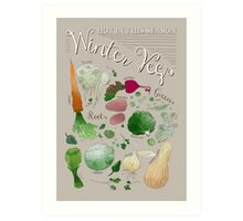 Winter Vegetables Art Print