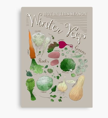 Winter Vegetables Canvas Print