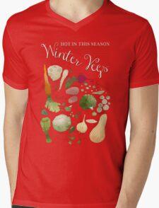 Winter Vegetables Mens V-Neck T-Shirt