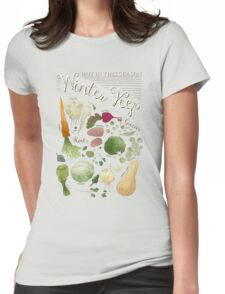 Winter Vegetables Womens Fitted T-Shirt